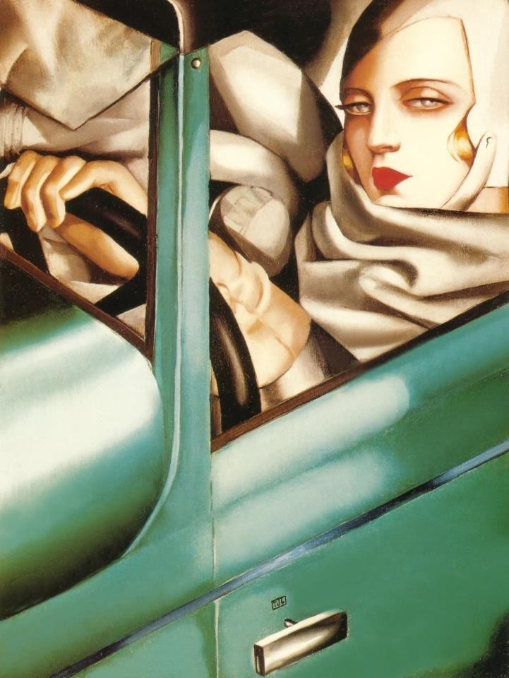 Self-Portrait in Green Bugatti, Tamara de Lempicka